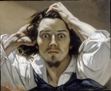 La stupéfaction du désespéré (Courbet) dans J'aime courbet