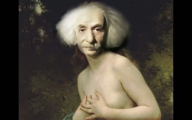 Einstein as a Woman   dans J'aime bouguereau-einstein