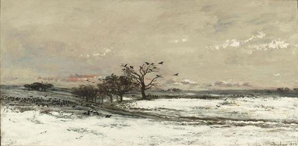 paysage_de_neige_au_soleil_couchant_daubignyblog dans J'aime